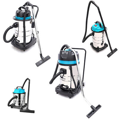 Portable Wet and Dry Vacuum Cleaner Stainless Steel Container Blower Workshop UK