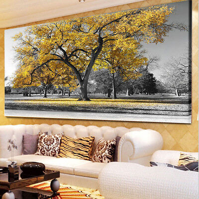 50*75Large Tree Leaves Nature Pictures Print Canvas Wall ArtPrintsUnframed