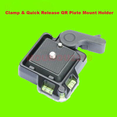 QR Quick Release Clamp Adapter Plate Mount For Tripod Monopod Ball Head Camera