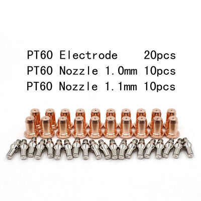 Plasma Tips 1/1.1mm Electrode 52582 Consumables Set For IPT-60 IPT-40 Torch New