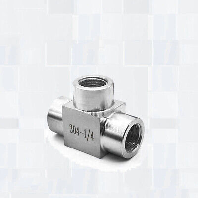Stainless Steel 1/4 Internal Thread Three Way Water Heating Fittings Connector