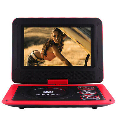 """12"""" inch DVD Player 270° Swivel Screen 300 Games SD USB Rechargeable TV Game FM"""
