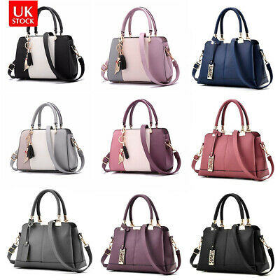 Women Leather Handbag Briefcase Shoulder Bag Tote Purse Lady Messenger Satchel