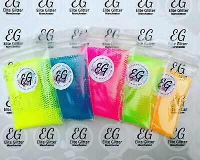 Nail Art Netting Material Fabric for Gel/Acrylic Nails Neon Pink Yellow Blue