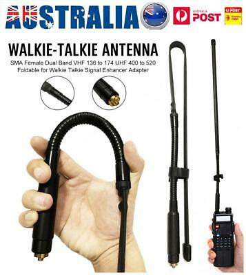 80CM SMA Dual Band Walkie Talkie Antenna VHF/UHF Handheld Radio Signal Adapter