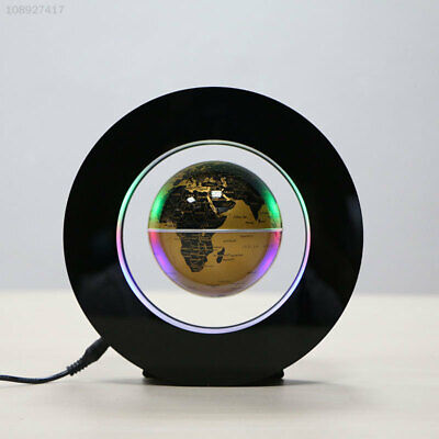 8261 B166 Decoration 4.0 Inch Office Magnetic Levitation Globe Gold Floating