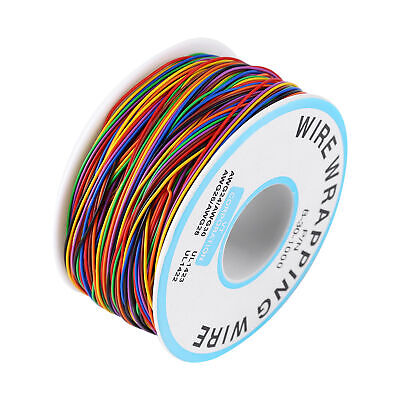 8-Wire Colored Insulated 280M P/N B-30-1000 30AWG Test Wire Copper Wrap Cable