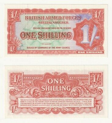 British Armed Forces 1 Shilling note (1948) P.M18a - UNC.