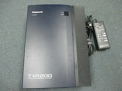 Panasonic KX-TVA200 Voice Mail Voice Processing System 4 Port 1000 Hour W/ POWER