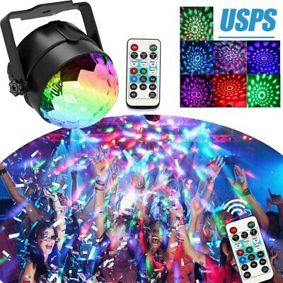 Disco Ball Party Lights Strobe DJ Stage Lamp Sound Activated with Remote Control