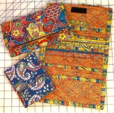 New Wallet Pattern Tri Fold or Square Made with Double Faced Quilted Fabrics