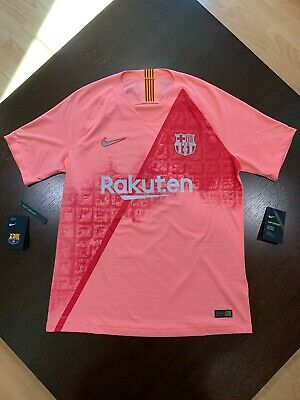 new products 20457 21e6b NIKE FC BARCELONA 18/19 Men's Third Soccer Jersey pink L Vaporknit Authentic