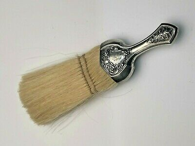 "Antique Webster Sterling Silver Vanity Brush 6"", mono B on handle"
