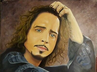 Incredible Chris Cornell original oil painting. 16x20 No Frame. A Must Have.