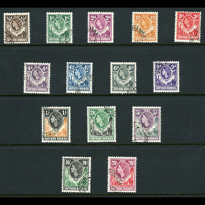 NORTHERN RHODESIA 1953 Set of 14 Values. SG 61-74. Fine Used. (WB614)