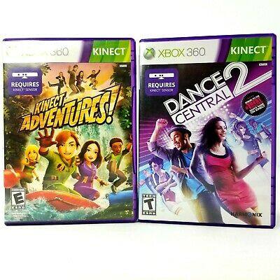 LOT OF 2 Nice Xbox 360 Kinect Video Games- Dance Central