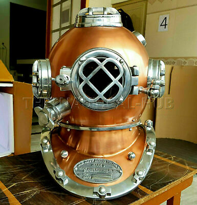 Copper Diving Helmet Antique Scuba U.S Navy Mark V Scuba Divers  Helmet Gift