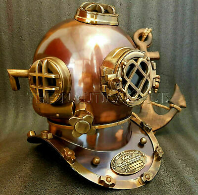 "Antique 18"" Diving Divers Helmet Vintage U.S Navy Mark V Scuba Diving Helmet"