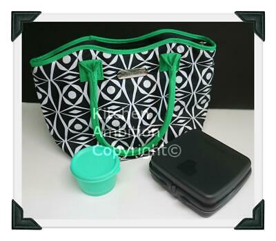 Brand New TUPPERWARE Deco Vibe Ladies Lunch Set Sandwich Keeper Bag Container #2