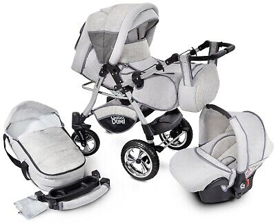 Urbano Pram Puschair Stroller 3in1 Travel system 20%OFF a lot of extras included