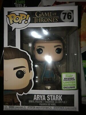 Funko Pop Game Of Thrones #76 Arya Stark ECCC Shared Exclusive Box lunch GOT