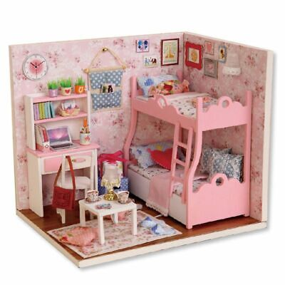 10X(1:24 Handmade Doll House Furniture Diy Miniature Dust Cover Wooden Toys 7E6)