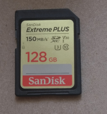 SanDisk 128GB UHS-3 U3 Class 10 Extreme Plus SD V30 150MB/s SDXC card camera