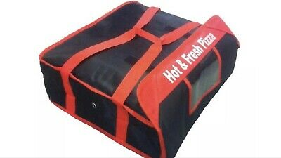 """5xPizza Delivery Bag Fully Insulated Professional Quality 18"""" 18"""" 8.5"""""""