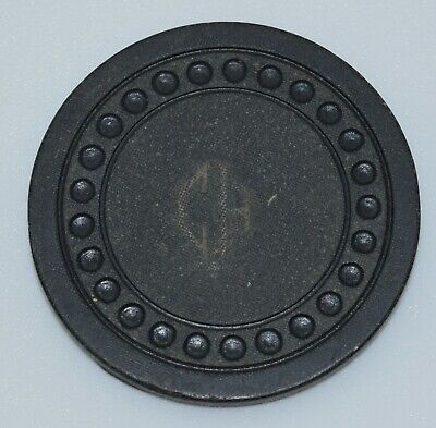 CH $5 Black Card Room Chip Dots Mold Made by White's Club Room Equipment Co.