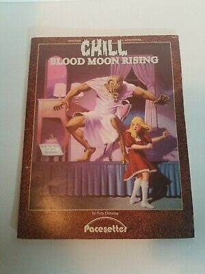 RARE 1985 vtg. RPG, Chill - Blood Moon Rising by Troy Denning, PACESETTER #2014