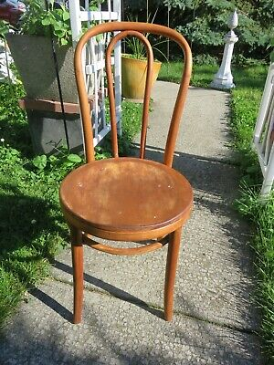 Antique Thonet Bentwood Wooden Seat Parlor Bistro Chairs