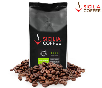 1kg ORGANIC CREMA Fresh Coffee Beans, 100% Arabica, Strong, Smooth