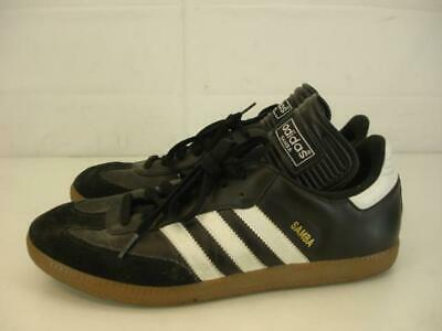 c3612fcd3 Mens 9 M Adidas Samba Classic Black Leather 034563 Indoor Soccer Shoes  Sneakers