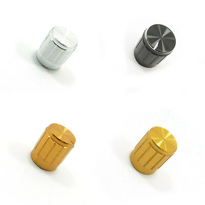 15mm Aluminium Potentiometer Knob Volume Control Cap Knurled Different Colors