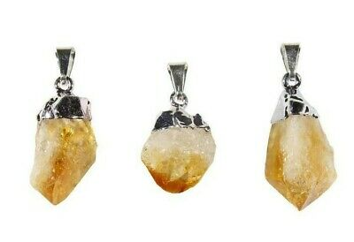 Citrine Point Pendant-Raw Citrine Crystal Point Silver Pendant-Crystal Jewelry