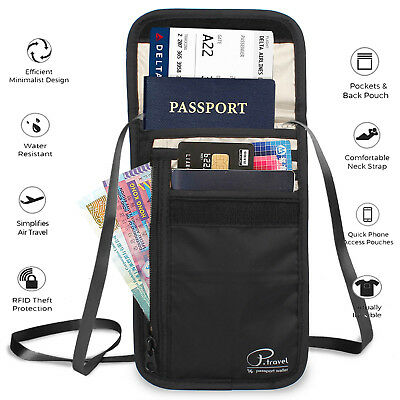 For Family Travel Passport Wallet  w/Theft Insurance and Lost & Found Service CA