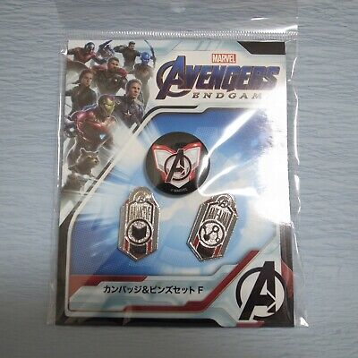 Avengers Endgame Hawkeye + Ant-Man Pin Badge Set A Limited Edition Japan Marvel