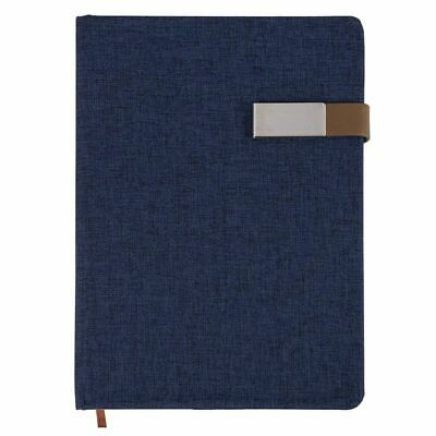 """A5 Journal Notebook Fabric Cover Magnetic Clasp Closure Diary Lined 5.7"""" x 8.5"""""""