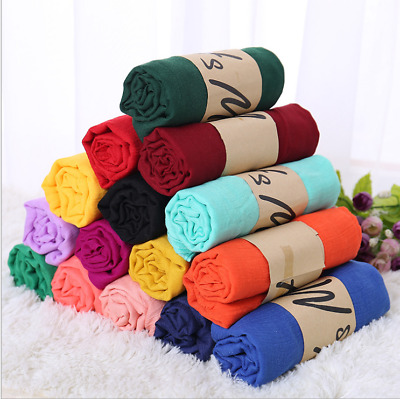 Womens Girl New Long Scarf Silk Chiffon Wrap Shawl Pashmina Scarves Candy Color&