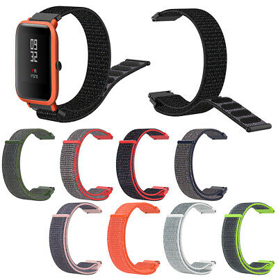 Replacement Nylon Braid Magic Tape Band Strap for Huami Amazfit Bip Youth Watch