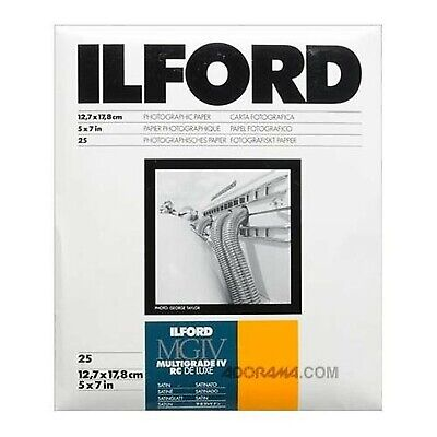 "Ilford Multigrade IV RC Deluxe 5"" x 7"" 25 Sheets Satin Paper"