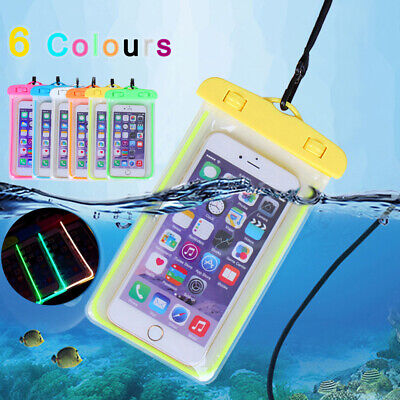 Universal Waterproof Underwater Phone Case Dry Bags Pouch UK All Smartphones New