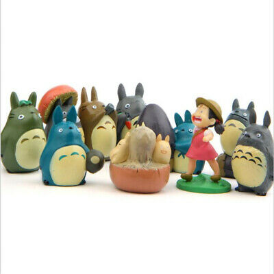 My Neighbor Totoro Cartoon Anime 10 PCS Action Figure Doll Kids Toys Cake Topper