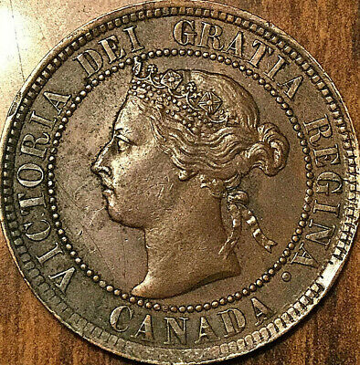 1893 CANADA LARGE CENT PENNY 1 CENT - Fantastic example!