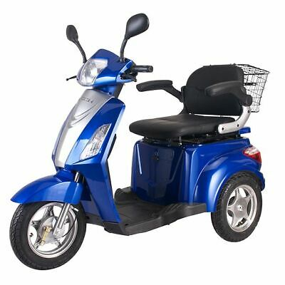 3 Wheeled Easy Rider Electric mobility scooter Travel Moped 8mph Road legal Blue