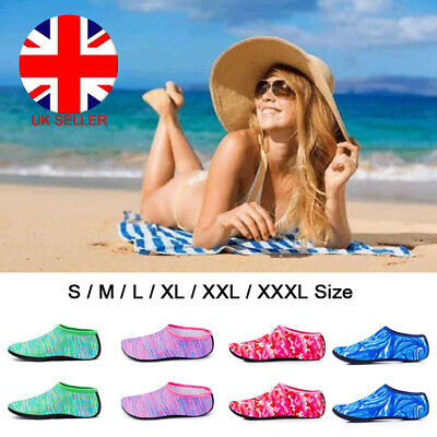 UK Water Socks Diving Socks Aqua Shoes Non-slip Swimming Beach S/M/L/XL/XXL/XXXL