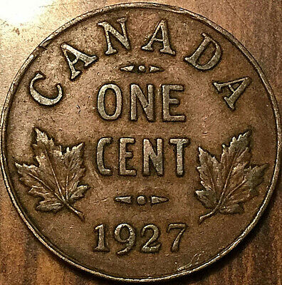 1927 CANADA SMALL CENT PENNY 1 CENT - Good example!