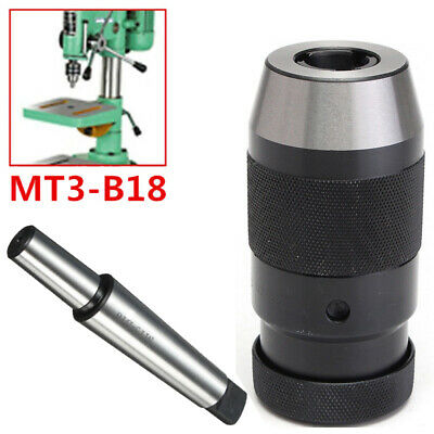 Self Tighten Drill Chuck MT3-B18 Arbor Alloy+45 steel Milling machines