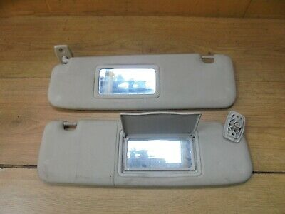 Peugeot 206 Cc Convertible 2001 Pair Of Sun Visors With 2 Mirrors