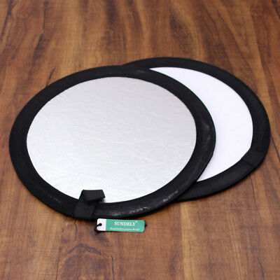 UK 30cm 2 in 1 Collapsible Studio Light Reflector Round Disc Photography + Case